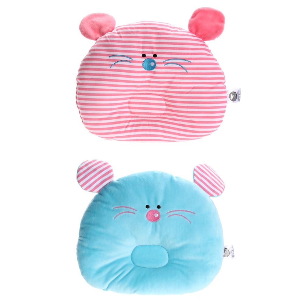 Soft Cartoon Mouse Baby Pillow Cute Newborn Infant Bedding Prevent Flat Head Pillow Lovely Sleeping Positioner Memory Pillow