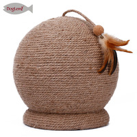 Cat Kitty Sisal Scraching Board Post Large Playing Scratcher Sphere Ball