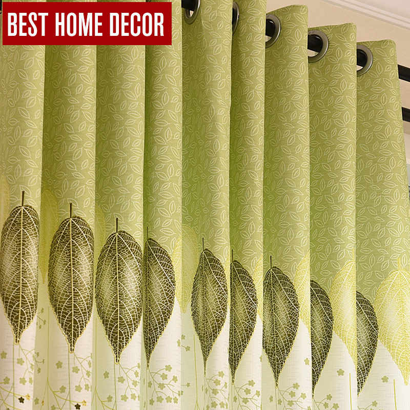 BHD embroidered finished drapes window blackout curtains for living room the bedroom modern blackout curtains for window blinds
