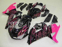 Для Kawasaki NINJA ZX14R 2006 2007 2008 2009 2010 2011 06 07 08 09 10 11 Инъекций АБС Обтекателя Комплекты Пламя Черный/Розовый