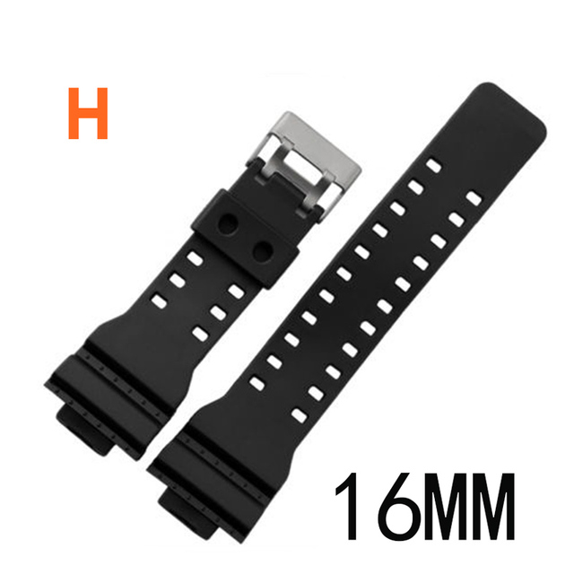 Rubber Watchband Watches Replace Electronic Wristwatch Band Sports Watch Straps LL@17