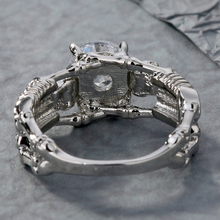 Men's Skeletons Themed Ring with Round Zirconia