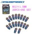 Xpower-20 Шт./компл. НЕО CHROME УНИВЕРСАЛЬНЫЙ JDM D1 SPEC RACING WHEEL ГАЙКИ M12X1.5MM ДЛЯ HONDA TOYOTA FORD