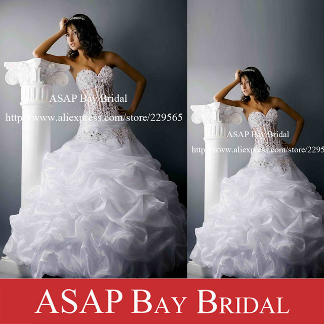 Free Shipping Custom Made Ball Gown Pin Up Sweetheart