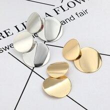 LOVBEAFAS Statement Earrings 2018 Fashion Metal Earrings For Women Gold And Silver Jewelry Simple Vintage Drop Dangle Earrings