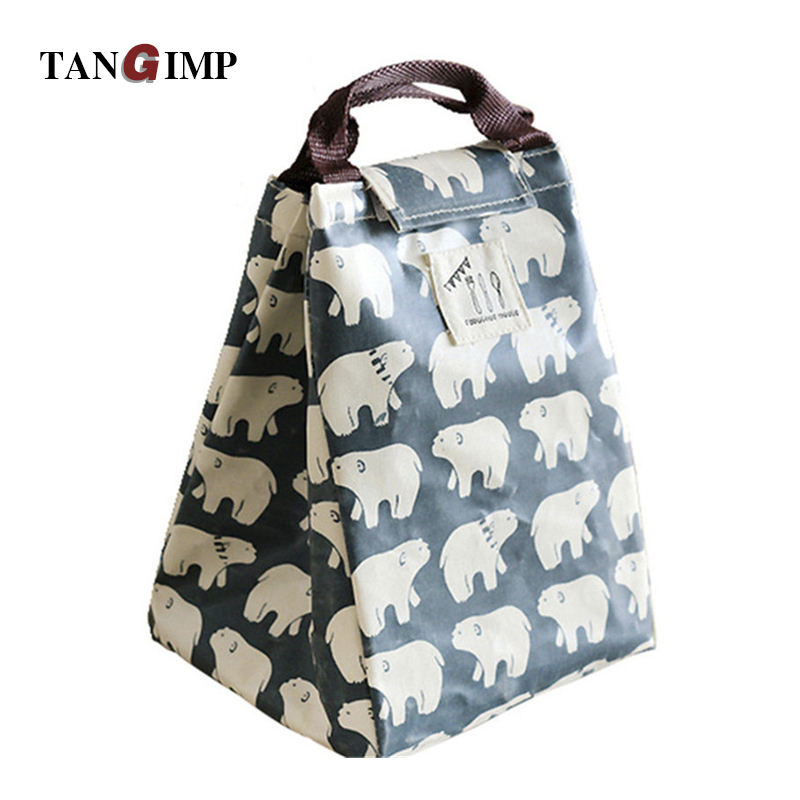 Tangimp Picnic Cooler Bags Bear Cold Insulated Lunch Bag For Women Water Resistant Cotton S Thermal Kids In From Luggage