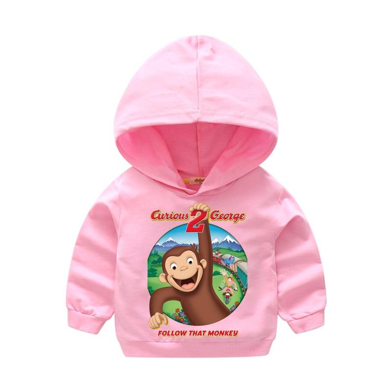 Crianças Rosa Com Capuz Hoodies Hoody Meninas Dos Desenhos Animados do  Menino Do Esporte Fino Curious George Roupas Moletom LM023 Childrne Roupas  Para Bebê ... ecde2d7bffad7