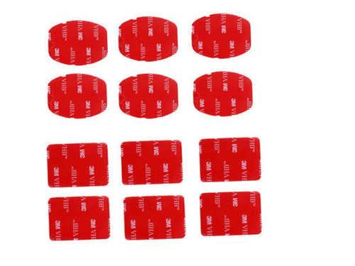 12 шт. плоские Изогнутые Крепления 3M клейкие липкие колодки Набор для Gopro Hero 6 5 4 3 + 3 2 Аксессуары для спортивной камеры