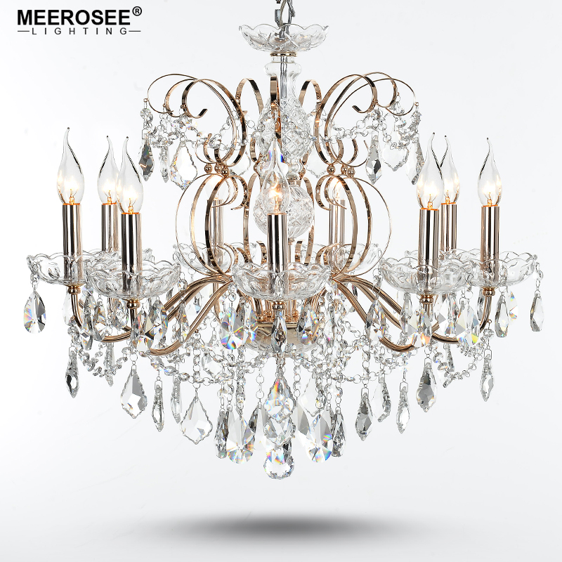 Crystal Chandelier Quality Types: 9 Lights Good Quality Iron Crystal Chandelier Light