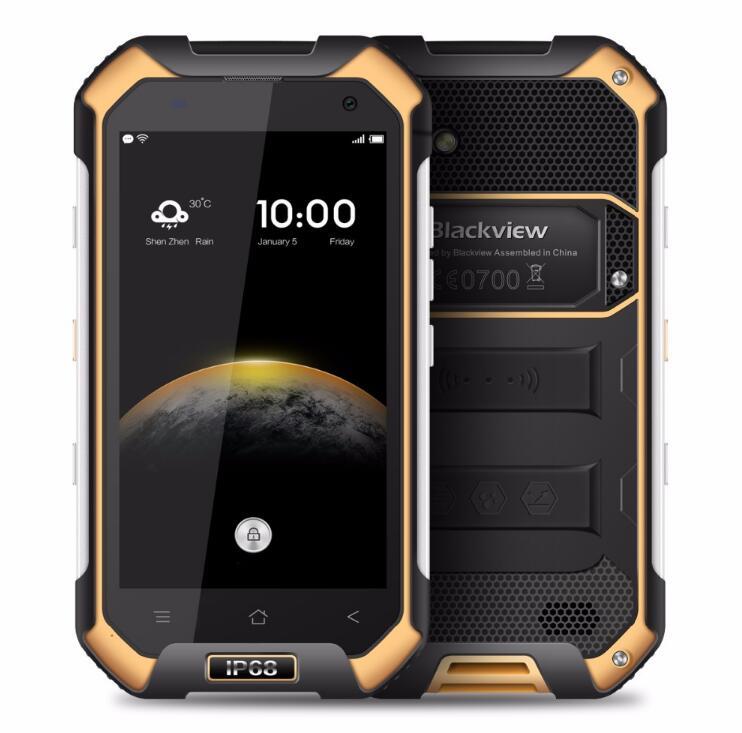 BLACKVIEW BV6000S 2 ГБ 16 ГБ водонепроницаемый мобильный телефон с IP68 4G LTE MT6737 четыре ядра 4,7 дюйма HD 8MP Android 6,0 4200 мАч gps NFC OTG