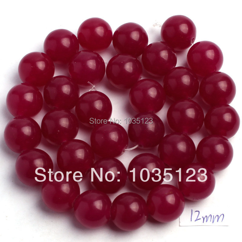 """Free Shipping 12mm Natural Round Shape Rosy Jades DIY Gems Loose Beads Strand 15"""" Jewelry Accessory w556"""