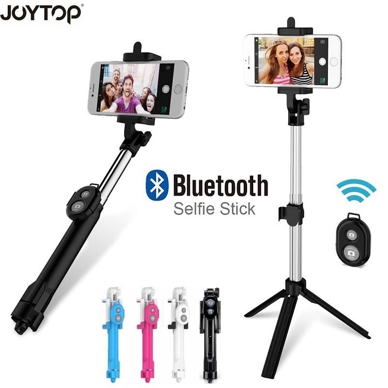 JOYTOP trípode Monopod selfie Stick Bluetooth con botón Pau De Palo selfie stick para iphone para Samsung para huawei