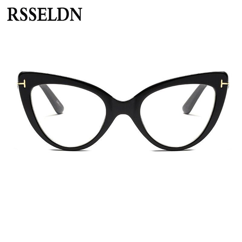 86728a6e45 Товар RSSELDN New 2018 Fashion Cat Eye Glasses Frames Brand Design ...
