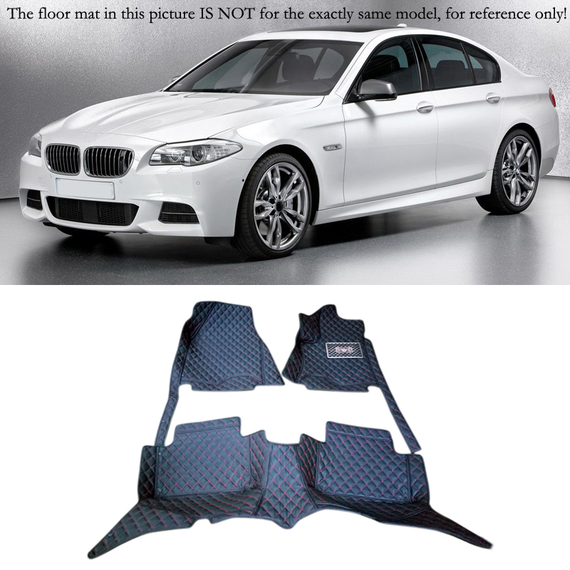 For BMW 5 Series F10 2010 2011 2012 2013 Interior Leather Carpet Floor Mat Car Foot Mat 1set Car Styling accessories! colts car floor mat set of 2 nfl