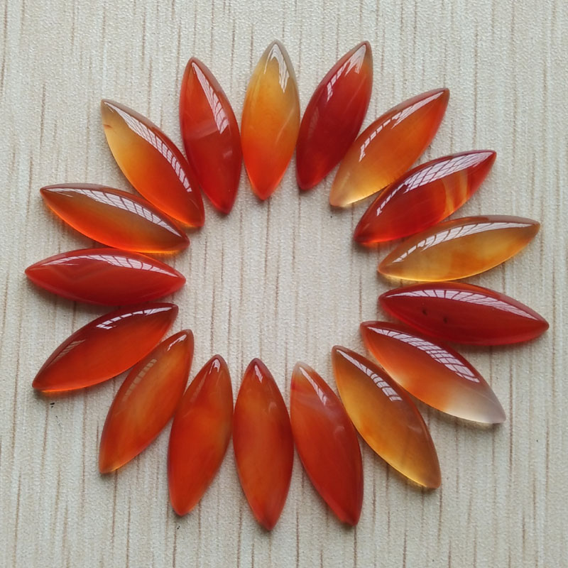 Wholesale 24pcs/lot 2017 Fashion natural red onyx Oval CAB CABOCHON beads for Necklace Earring accessories making 8x25mm free