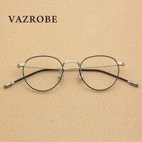 Vazrobe Pequeno Rodada Do Vintage Dos Homens Óculos de Armação mulheres Óculos de Prescrição Feminino Pontos de Grau lerdo Armações de Óculos Retrô