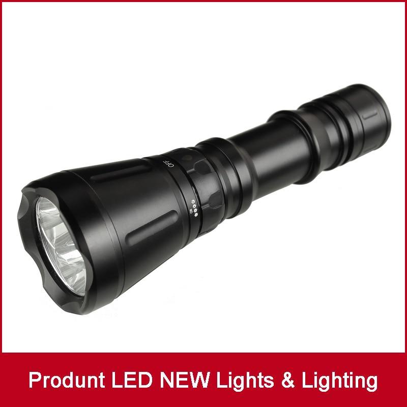 Top Quality 3*CREE XM-L T6 5000LM 5-Mode LED Diving Flashlight Torch Brightness Waterproof 60m White Light LED Torch