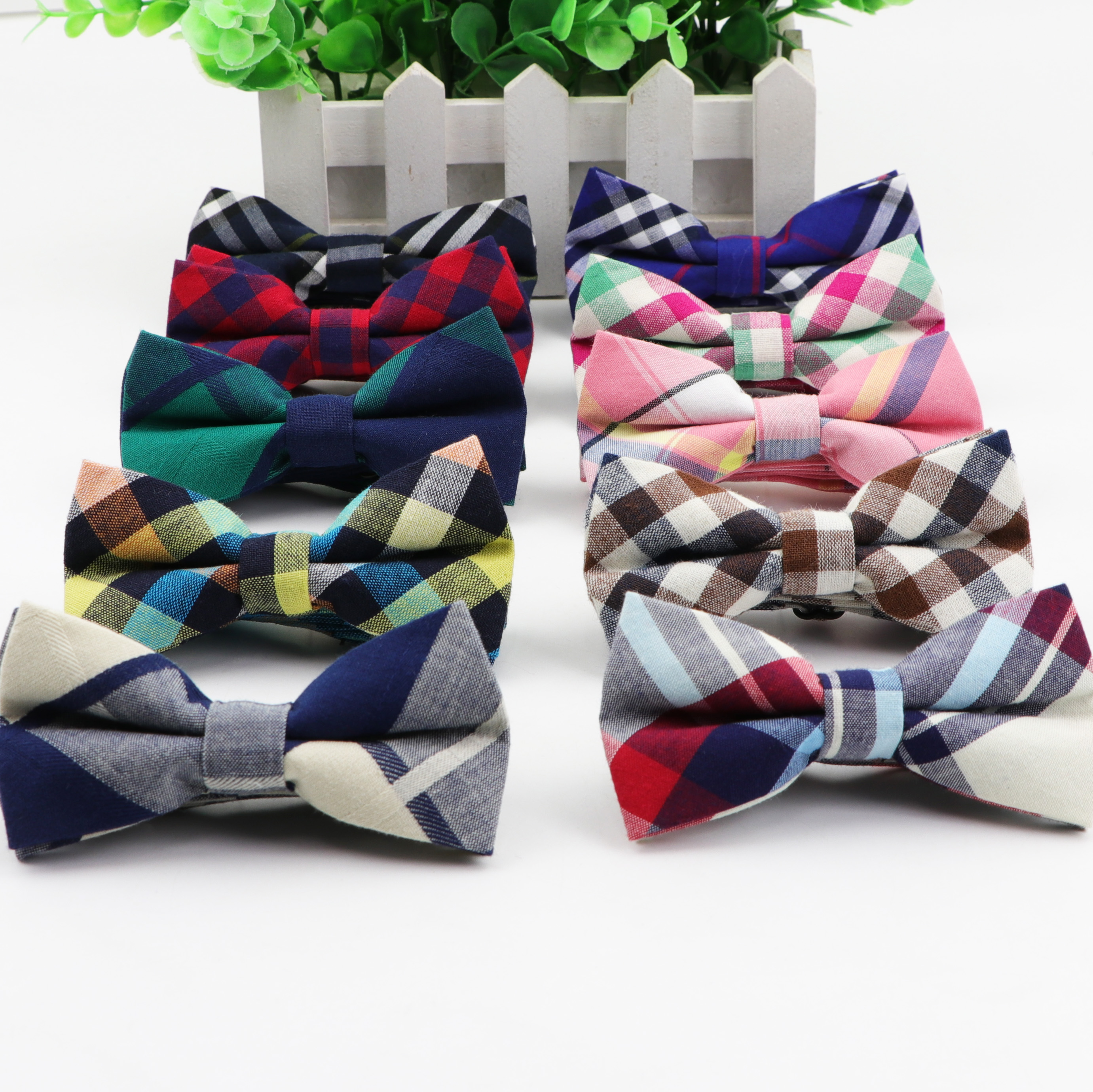 Classic Kid Suit Bowties Baby Boy's Baby Striped Butterfly Fashion Cotton Adjustable Bowtie Children Two Tone Bow Tie