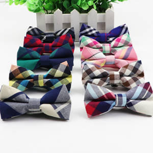Suit Bowties Classic Butterfly Baby Two-Tone Striped Cotton Children Adjustable Fashion
