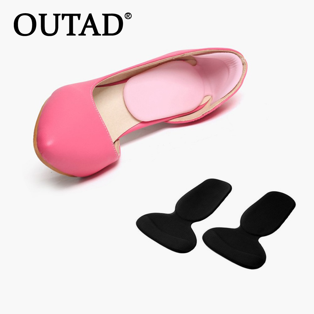 OUTAD 1 Pair Soft Silicone Heel Cushion Protector Feet Care Shoe Pad Insole Prevents Heels From Scratching And Blisters