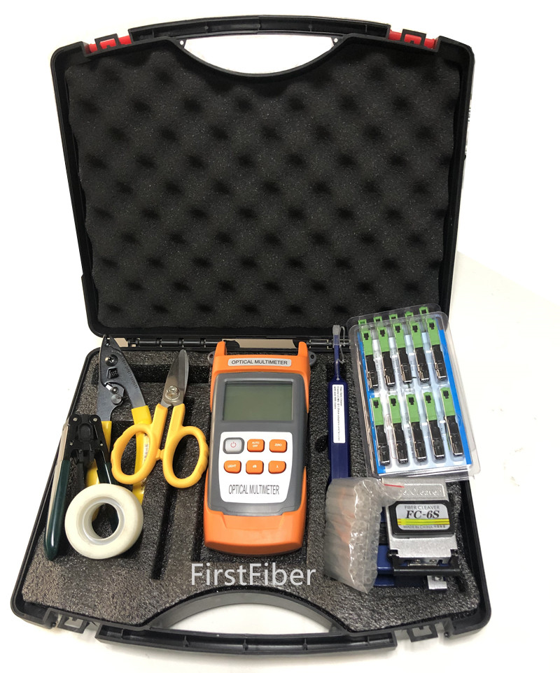 Fiber Tools Kit FTTH Fiber Toolbox Mainly used by installers for FTTH installation and MaintananceFiber Tools Kit FTTH Fiber Toolbox Mainly used by installers for FTTH installation and Maintanance