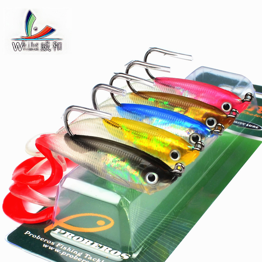 1Pcs Man-Made Soft 5 Colors Soft Lead Long Tail Soft Fishing Spinner Bait Sharp Bait Hook 10 cm/14.7 g Fishing Accessories