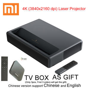 Xiaomi 3840x2160 dpi video TV home theater short focus 5000 lumens with Wifi Bluetooth