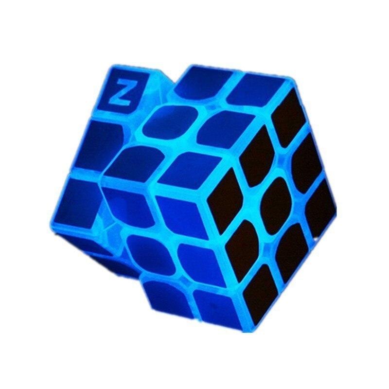 Zcube 3x3x3 56cm Profissional Luz Azul Transparente Brilho Competição Velocidade Enigma Cubo Mágico Cubos Educacionais para As Crianças