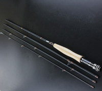 Fly Fishing Rod Set 2.4M High Carbon Fly Rod #3/4 Free Shipping 4 Section