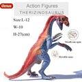 Oenux Миру Юрского Therizinosaurus Плотоядных Динозавров Рот Может Открыть Модель Твердого ПВХ Фигурки Игрушки Для мальчика Подарок