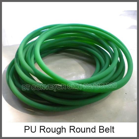 PU Green Round Driving Belt, Rough Belt, Smooth Belt, diameter 2mm, 3mm, 4mm, 5mm, 6mm, 7mm, 8mm, 9mm, 10mm, 12mm, 15mm, 18mm green orange transparent pu round belt polyurethane drive belt smooth and rough surface for sale