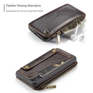 Image 2 - Afneembare Lederen Case Voor Iphone 11 Pro Max X Xr Xs Max Rits Flip Telefoon Case Voor Iphone 8 7 plus 6 6S Se 2020 Portemonnee Gevallen