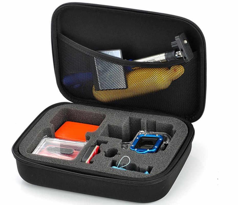 3 حجم حقيبة التخزين ل GoPro بطل 3 +/3 بطل 4 عمل كاميرا Eva جمع صندوق حالة جبل ل الذهاب برو جلسة مع مقبض