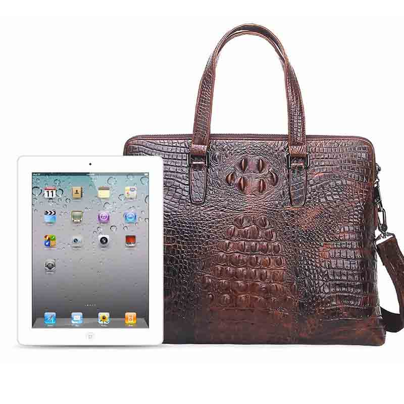 Business Briefcase Handbag Crocodile Shoulder Wind-Leather Men's Casual New Skin-Care