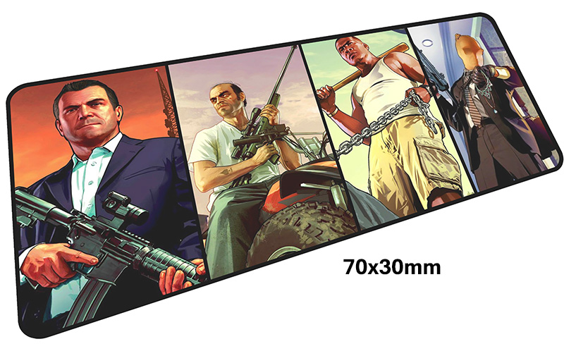 gta v mousepad gamer 700x300X3MM gaming mouse pad large Beautiful notebook pc accessories laptop padmouse ergonomic mat