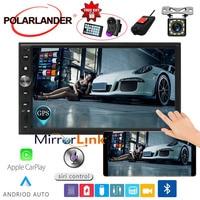 7'' 2 DIN Car Radio Autoradio Multimedia For Apple Carplay & Android Touch Screen Rear Camera DVR Mirror link GPS Navi FM