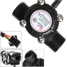 DN15 трубы G 1/2 ''поток воды Датчик Холла расходомер, расходомер управления воды 1-30L/мин инструменты расходометр воды water hall flow sensor hall sensors счетчик жидкости