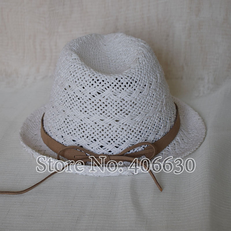 Summer New White Unisex Straw Fedora Hats For Men Chapeu Panama Trilby Jazz  Caps Female Free Shipping MEDS034 b4a6a0fc15b