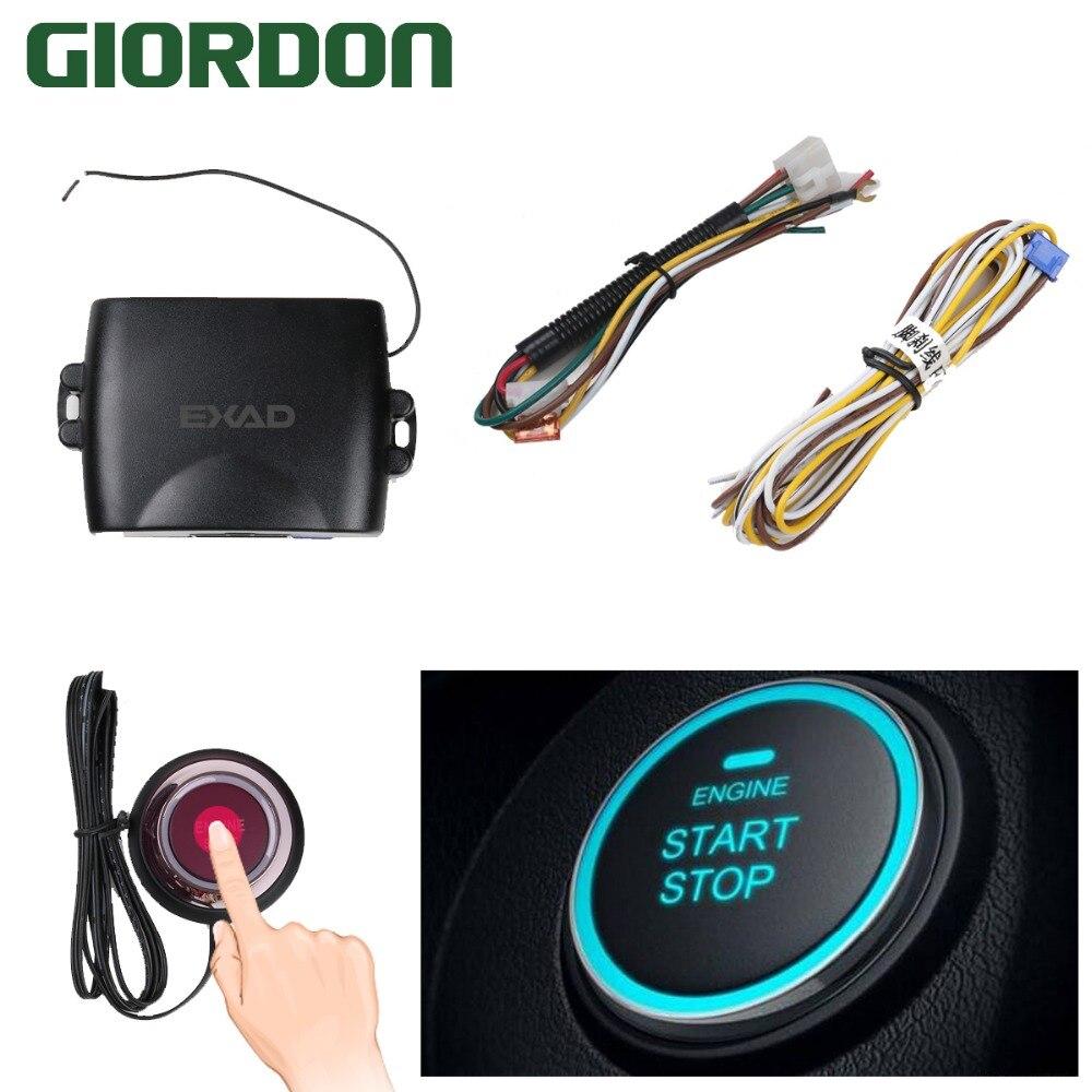 Keyless Entry Car Push Start Button Rfid Lock Engine: Car Alarm Engine Starline Push Button Start Stop RFID Lock