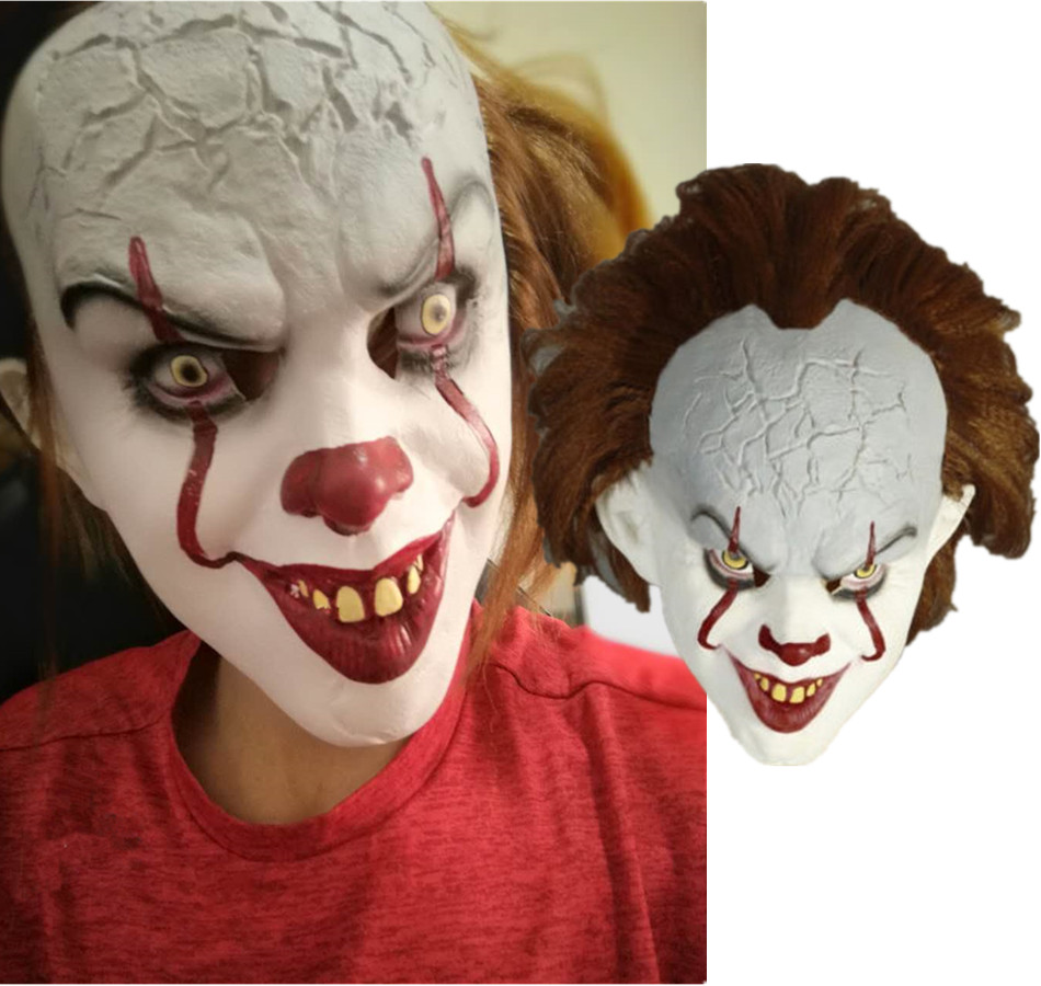 Movie Stephen King's It Mask Pennywise Clown Joker Halloween 2017 Cosplay Face Masks