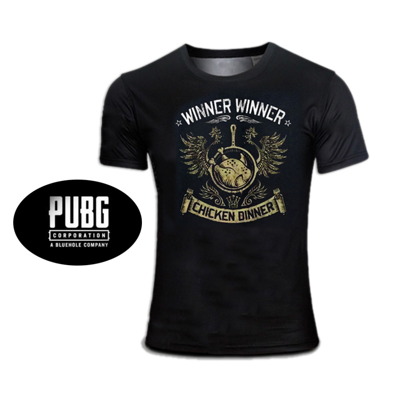 2018 New Hotest Spiel T-shirt Player der Unbekannten Schlachtfelder T-shirts PUBG Gewinner Gewinner Huhn Abendessen Top Für Männer Jungen Cosplay