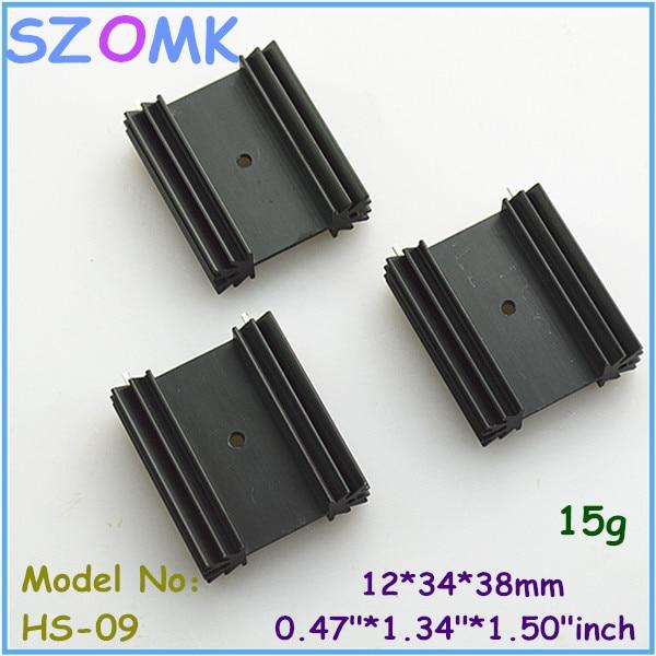 20 pcs, extruded aluminum heat sink 12*34*38mm electronics computer heatsink instrument case aluminum radiator