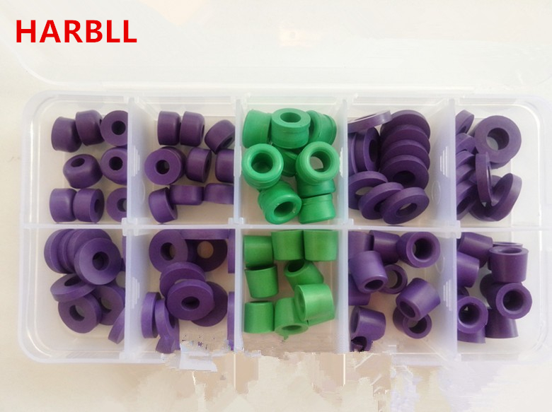 HARBLL R134a R12 refrigerant car air conditioning refrigerant table pipe apron gaskets seals font b box