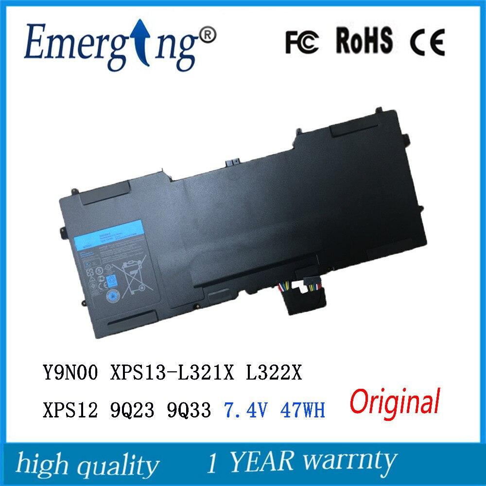 7.4V 47Wh New Original Laptop Battery for DELL Y9N00 3H76R 489XN XPS13 L321X L322X XPS12 9Q23 9Q33