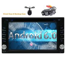 Include Front&Rearview Cameras 2din Android6.0 Car Stereo DVD Video Player GPS Navigation Autoradio Capacitive Mutli-touchscreen