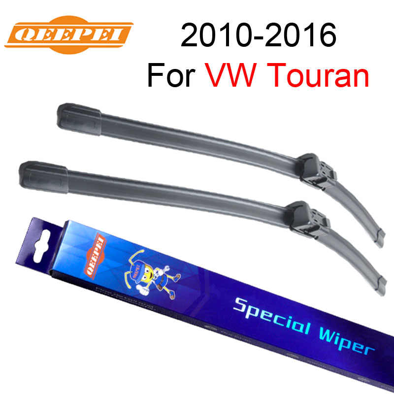 QEEPEI Wiper Blades For VW Touran 2010 2011 2012 2013 2014 2015 2016 Natural Rubber Car Windshield Windscreen Accessories
