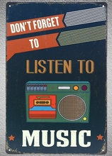 1 pc Listen to music dont forget bar shop CD tape Tin Plate Sign wall plaques man cave Decoration Dropshipping Poster metal