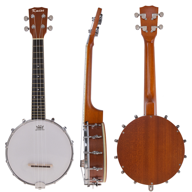 Kmise 4 String Banjo Ukulele Uke Concert 23 Inch Size Sapele Wood kmise concert ukulele black tint satin ukelele uke sapele 23 inch 18 frets 4 string hawaii acoustic guitar with gig bag
