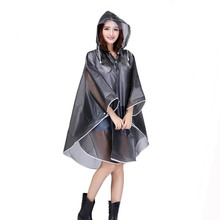 Fashion Women waterproof Plastic Thick hooded bike raincoat ponchos Impermeable EVA outdoor Cycling Rain Cape
