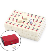 2.2x1.5x1.1cm Mah Jong Set Multi color Portable Mahjong Rare Chinese Toy With Bamboo Box New Arrival